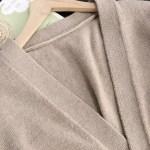 Greyish Camel Tone Half Buttoned Cardigan | Jisoo -BlackPink
