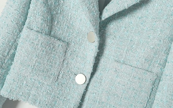 Blue Tweed Short Jacket | Ko Moon‑Young – It's Okay Not To Be Okay