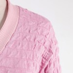 Pink Square Blocks Designed Cardigan| Ko Moon-Young – It's Okay To Not Be Okay