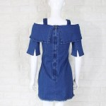 Denim Off-Shoulder Sling Dress | Nayeon – Twice
