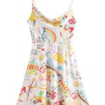 Graffiti Printed Sling Dress | Rose – BlackPink