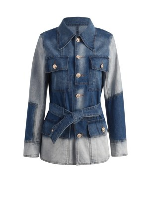 Sa Hye-Jun – Record Of Youth Patchwork Denim Belted Jacket (12)