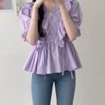 Lilac Ruflled Lace Blouse | Shuhua – (G)I-DLE