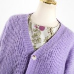 Lilac Simple Buttoned Knit Cardigan | Yoon Se Ri – Crash Landing On You