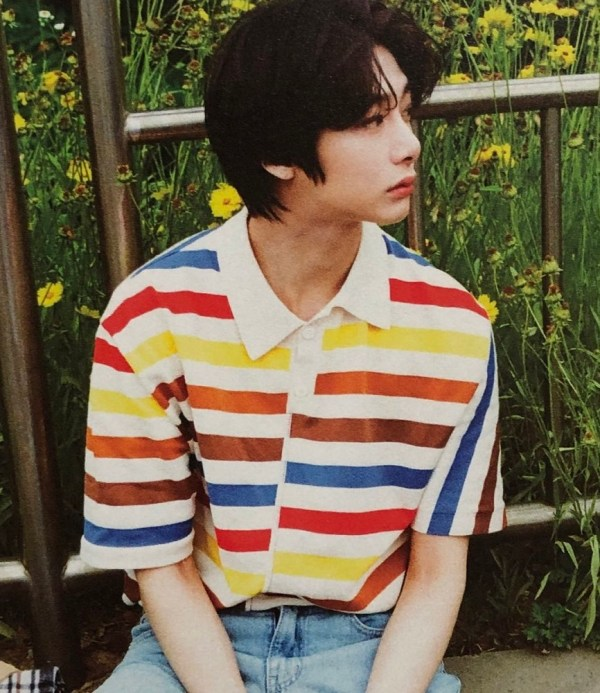Colorful Stripe Patterned  Shirt | Hyungwon  – MONSTA X