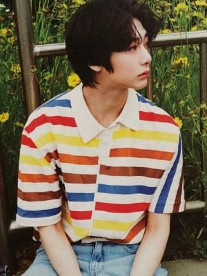 Colorful Stripe Patterned  Shirt | Hyungwon  – MONSTA X