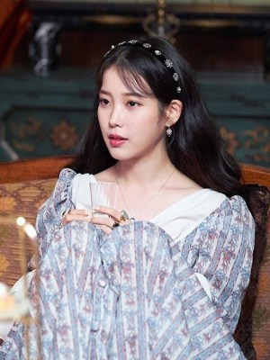 Floral Trumpet-Sleeved Dress | IU – Hotel Del Luna