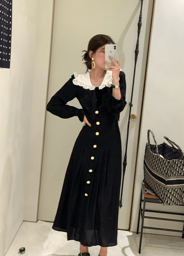 Black Vintage Dress | Jennie – BlackPink