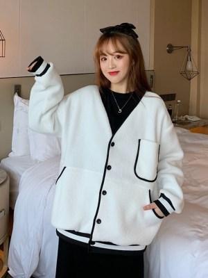 Jeonghan – Seventeen White V-neck Wool Cardigan (9)