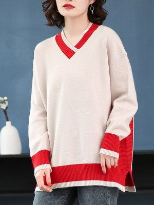 Jin – BTS Oversized V-Neck Sweater (8)
