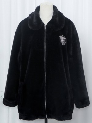 Lisa Black Velvet Plush Jacket (5)