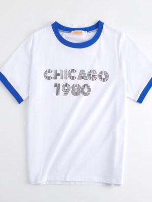 Lisa – BlackPink Chicago 1980 White T-Shirt (11)