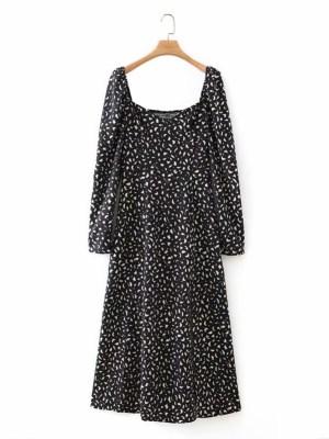 Mina -Twice Black Puffed Sleeve Slit Dress (31)