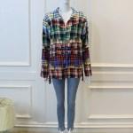 Plaid Stitching Contrast Shirt | Minhyuk – MONSTA X