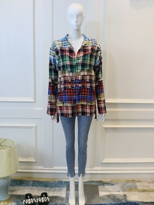 Minhyuk – MONSTA X Plaid Stitching Contrast Shirt (7)