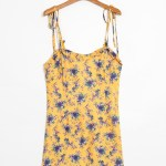 Yellow Floral Sling Dress | Tzuyu – Twice