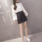 Black Leather Skirt  | Yeri – Red Velvet