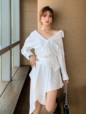 Yeri – Red Velvet White Off-Shoulder Asymmetric Dress (22)