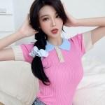 Pink Colorblock Polo Shirt | Chaeryeong – ITZY