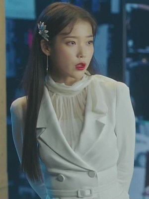 White Bow Collar Blouse | IU – Hotel Del Luna