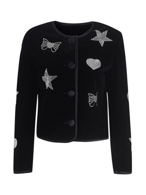Jennie – BlackPink Black Jeweled Jacket (10)