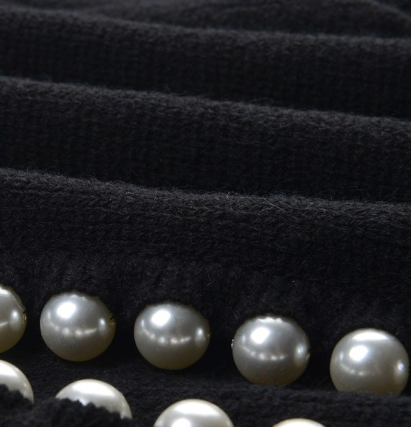 Pearl Embellished Black Cardigan   Jennie – BlackPink