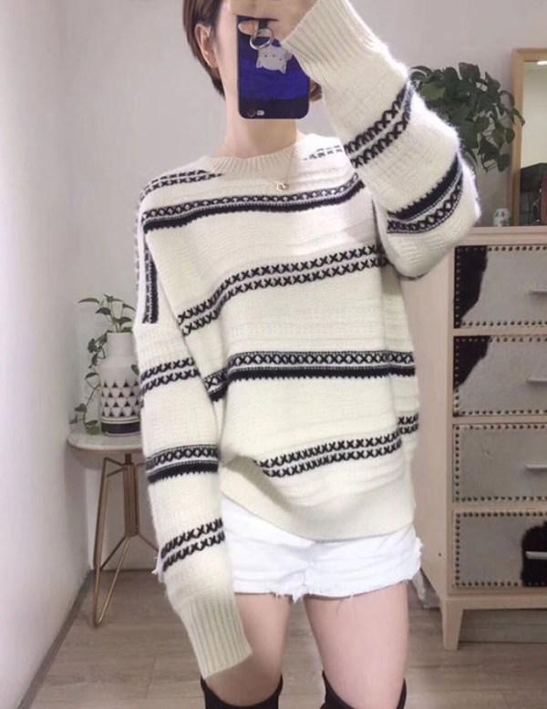 Crisscross Stitching Designed Sweater | Jeonghan – Seventeen