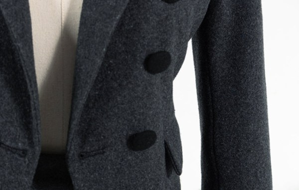 Grey Tri-buttoned Jacket | Lisa – BlackPink