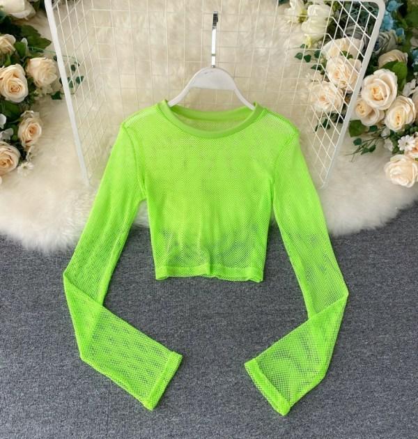 Neon Green Mesh Top | Ningning – Aespa