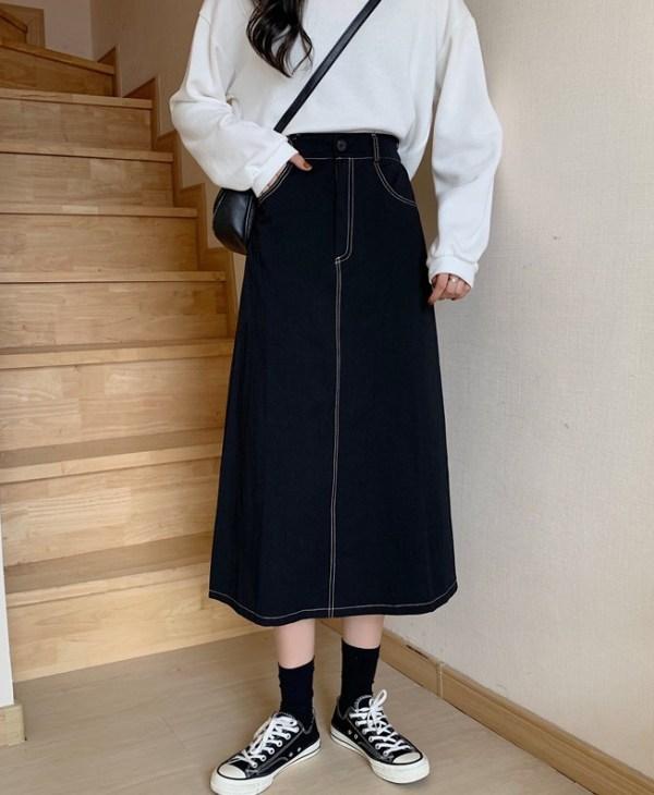 Beige A-Line Cut Skirt | Seulgi – Red Velvet