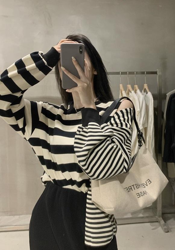 Double Striped Button Sweatshirt | Shownu – MONSTA X