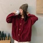 Wine Red Corduroy Jacket | Changbin – Stray Kids