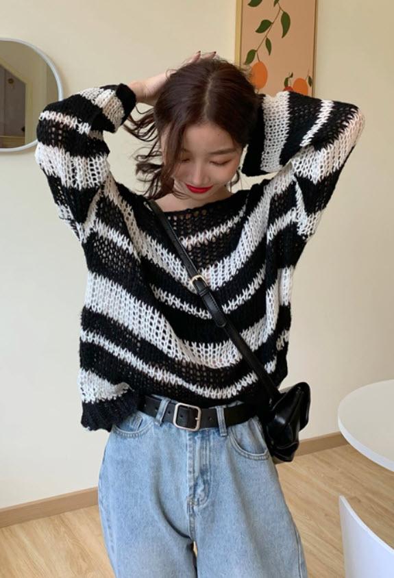 Hollow Knit Sweater   Hoshi – Seventeen