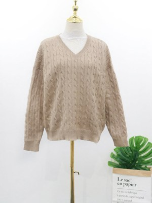 Hyuna Beige Knotted Designed Sweater (2)