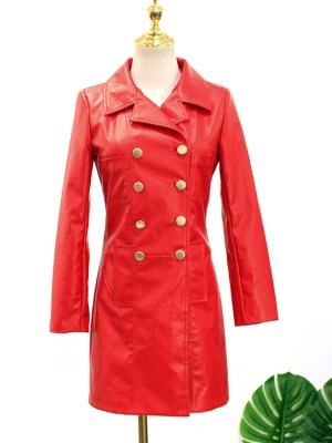 IU – Hotel Del Luna Red Leather Coat (8)