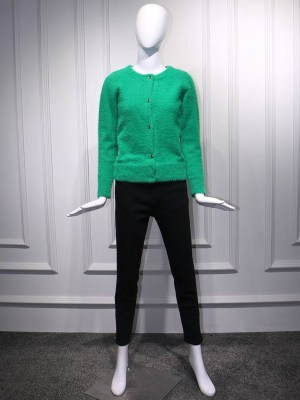 Irene – Red Velvet Green Mohair Cardigan (1)