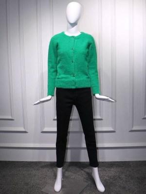 Irene – Red Velvet Green Mohair Cardigan (1)