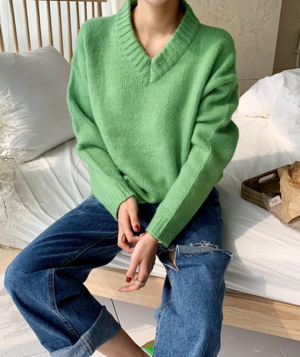 Green Knitted Sweater | Jennie – BlackPink