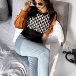 Geometric Patterned Knitted Vest | Jisoo – BlackPink