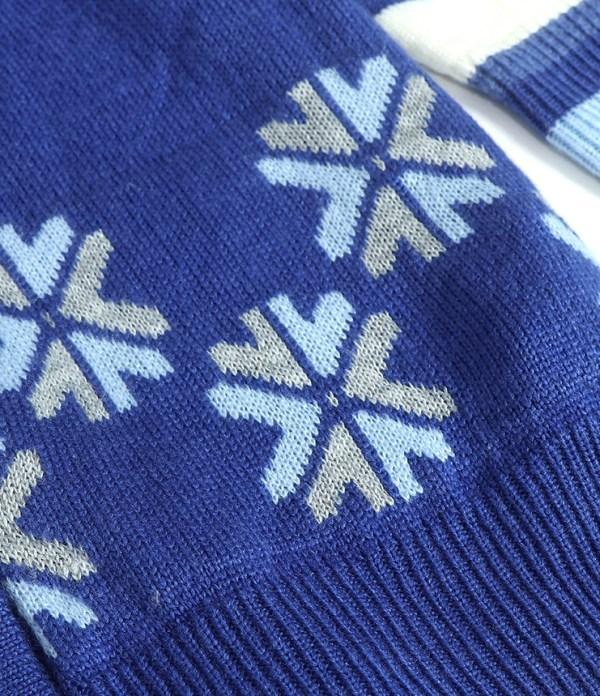 Oversized Bear and Snowflake Patterned Cardigan | Jisoo – BlackPink