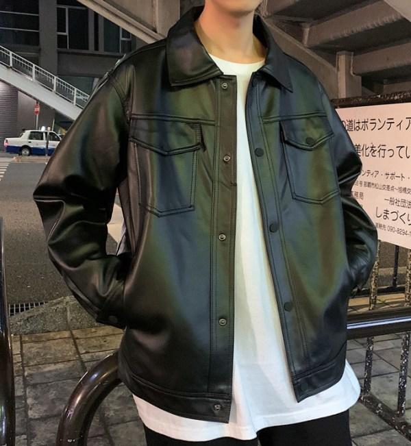 Black Motorcycle Jacket | Lee Young Hwa – Run On