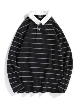 LeeKnow – Stray Kids Classic Stripe Polo Shirt (7)