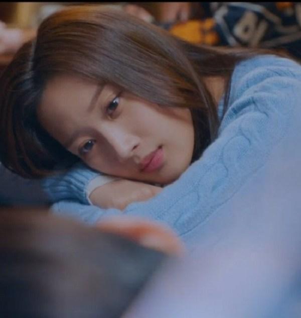 Blue Twist Knitted Cardigan | Lim Joo Kyung – True Beauty
