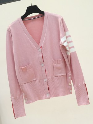 Lim Joo Kyung – True Beauty Pink Cardigan With Stripes (1)