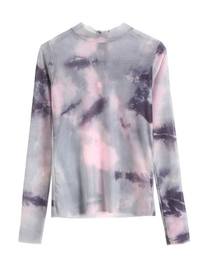 Lisa -BlackPink Tie-Dye Mesh Top (16)