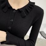 Ruffled Beige Top | Rose – BlackPink