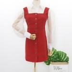 Red Corduroy Dress | Hyuna
