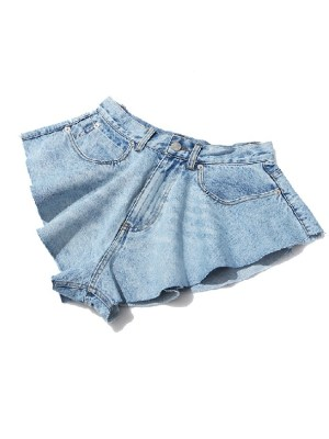 Hyuna – Sexy Ruffled Denim Shorts (14)