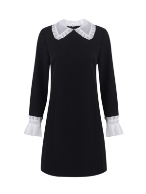 Irene Red Velvet – Black Dollar Collar Mini Dress (8)