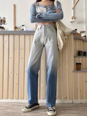 Joy – Red Velvet Gradient Denim Jeans (11)